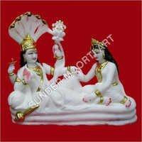 Vishnu Laksmi Marble statue