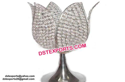 Wedding Crystal Flower Shaped Center Piece