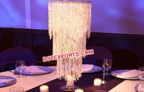 Wedding Crystal Jhoomer Table Decor