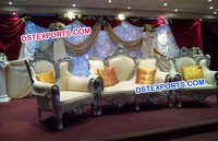 Indian Wedding Royal Silver Sofa