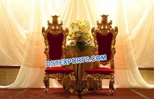 Wedding Golden Love Chairs Set