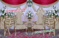 Indian Wedding Gold Chairs Set