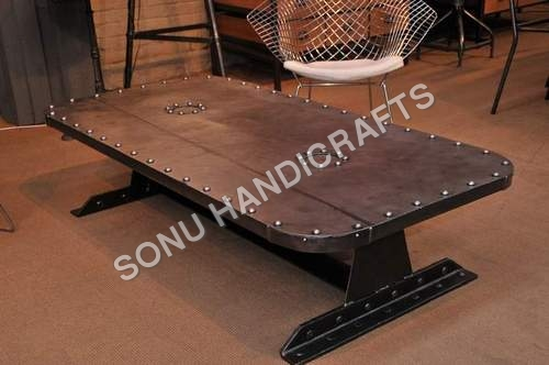 Industrial Riveted Coffee Table
