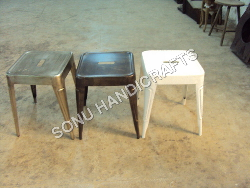 French Metal Stools