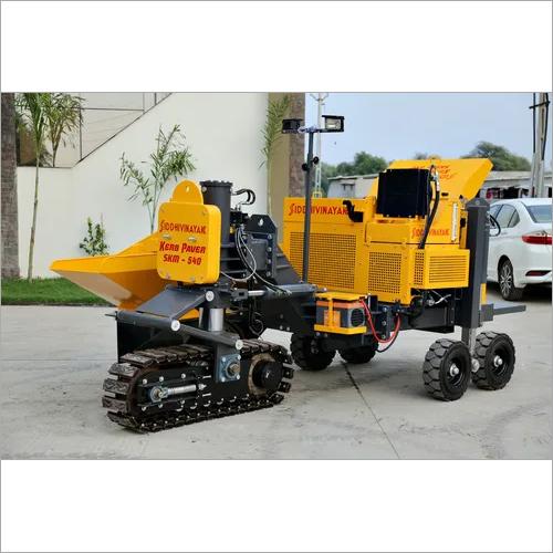 Yellow Kerb Laying Machine