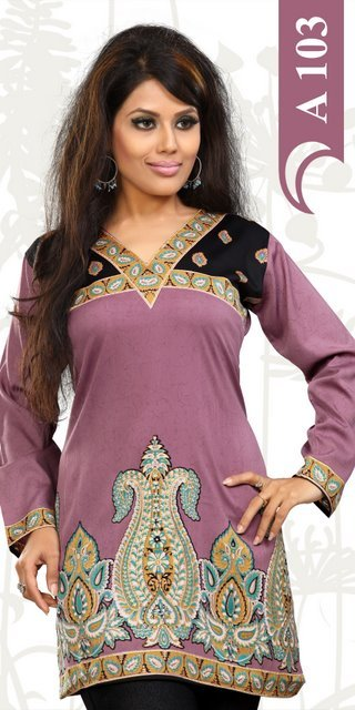 Crepe Kurtis Suppliers Exporters India