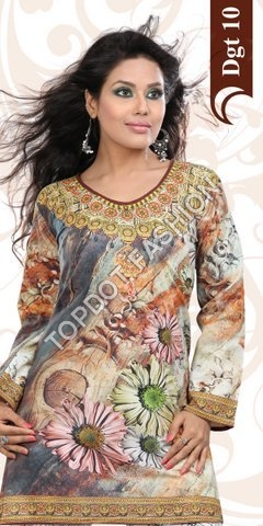 Indian Manufacturer OF Digital Printed Kurtis