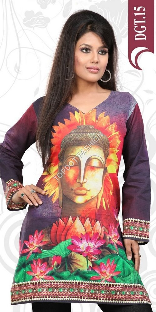 Digital Printed Kurtis Exporters India