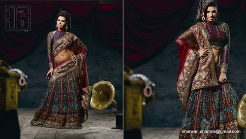 Net Lengha Saree