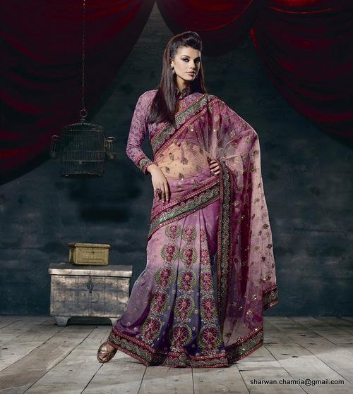 Lengha Style Designer Saree
