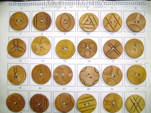 44 Line - Wooden Desinger Button