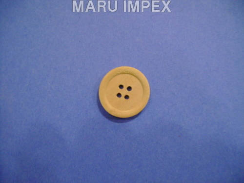 Yellow Wood Ring Buttons 4 Hole Haldu