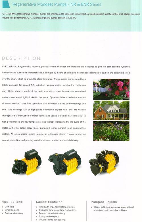 Regenerative Monoset Pumps-NR & ENR Series