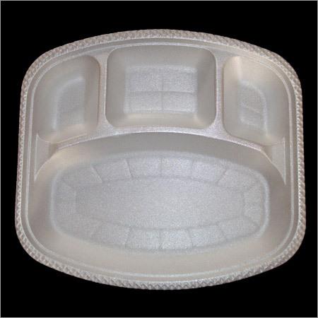 4 Compartment Square Plate