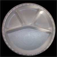 Disposable Round Compartment Plates