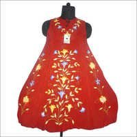 Rayon Crape Brush Paint Dress