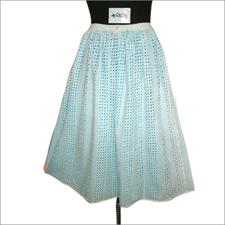 Cotton Computer Embroidery Skirt