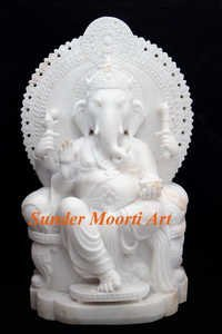 Stone Statue of Ganesha Idol