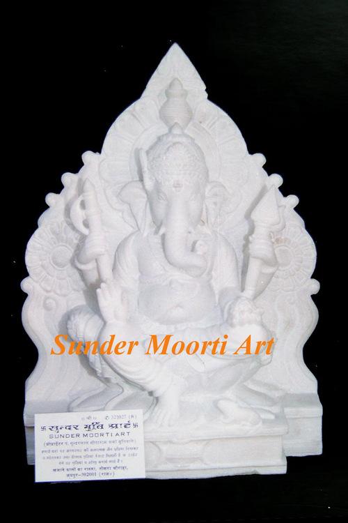 Marble God Ganesha Stone Statues