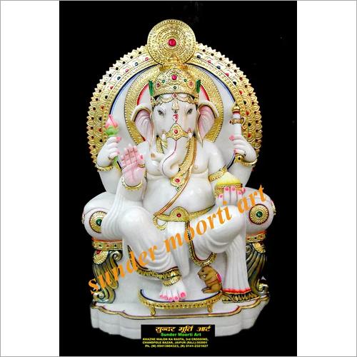 Marble Ganesh Idol Statue
