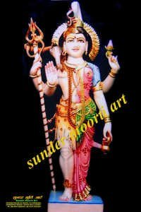 Marble Ardhanarishwar Statue