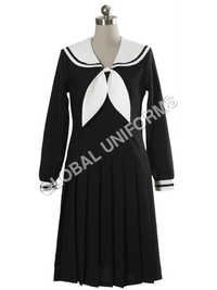 Long Sleeves Black School Uniform
