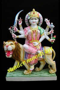 Marble Bhagwati Maa Statue