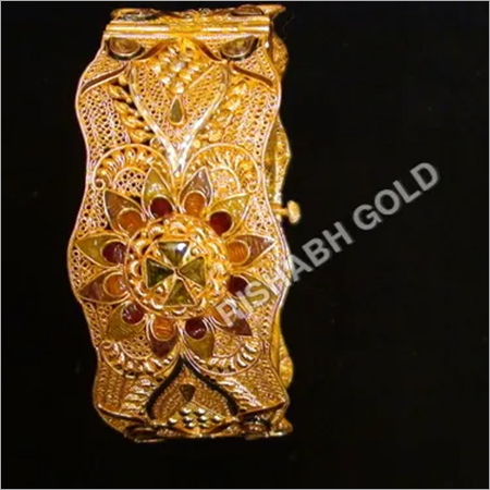 Ladies Designer Gold Kada