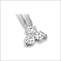 Platinum Diamond Studded Pendants