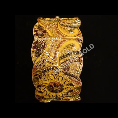 Gold Filigree Kada Bangles