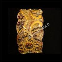 Gold Filigree Kada Bangles