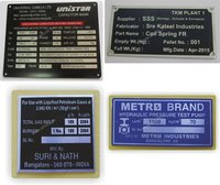 Serial No Metal Labels