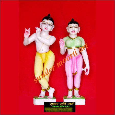 Marble Iskon Radha Krishna Statues