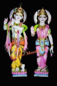 White Marble Radha Krishna Sculptures