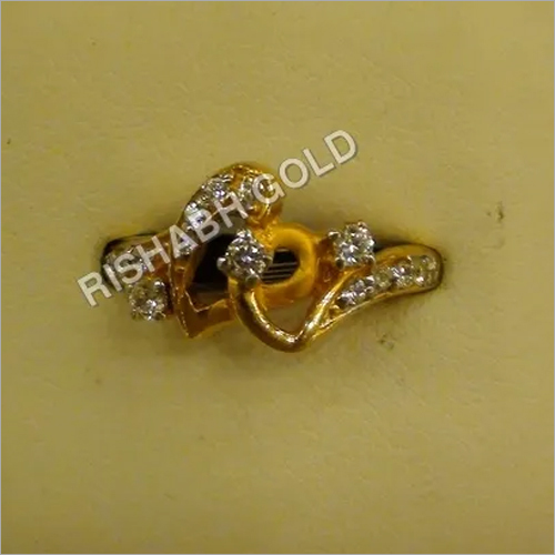 Studded Gold Ladies Ring