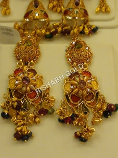 Studded Gold Earrings