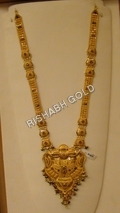 Gold Long Necklace Set
