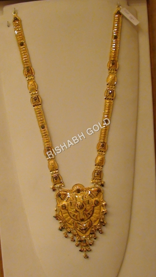 Designer Long Gold Necklace