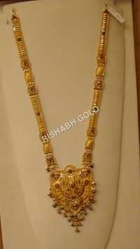 Designer Long Gold Necklace
