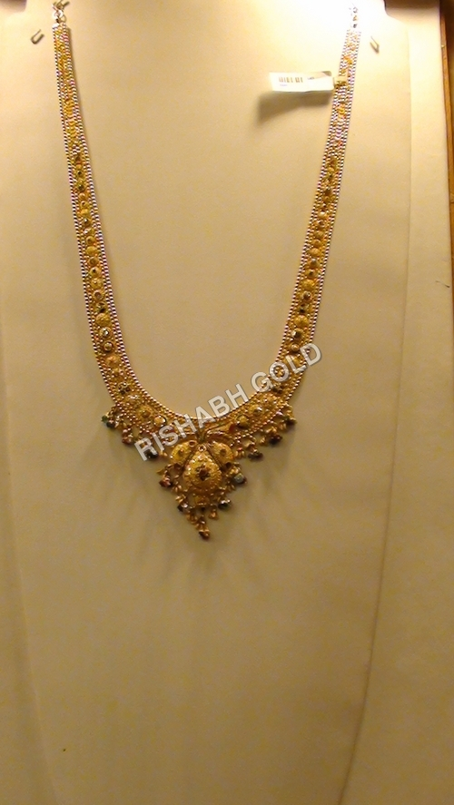 Fancy Gold Long Necklace