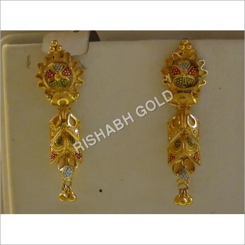 White Gold Earings