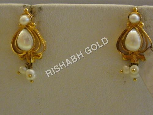 Designer Gold Earings