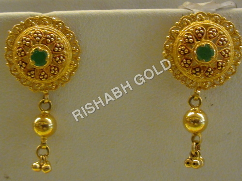Gold Ear Ring Set