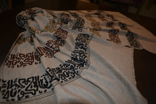 Strip Calligraphy Embroidered Shawls