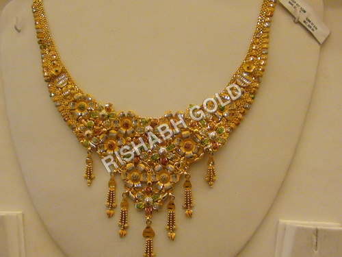 Ladies Studded Gold Necklace