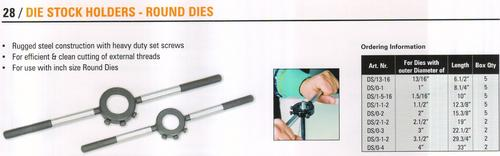 die stock holders- round dies