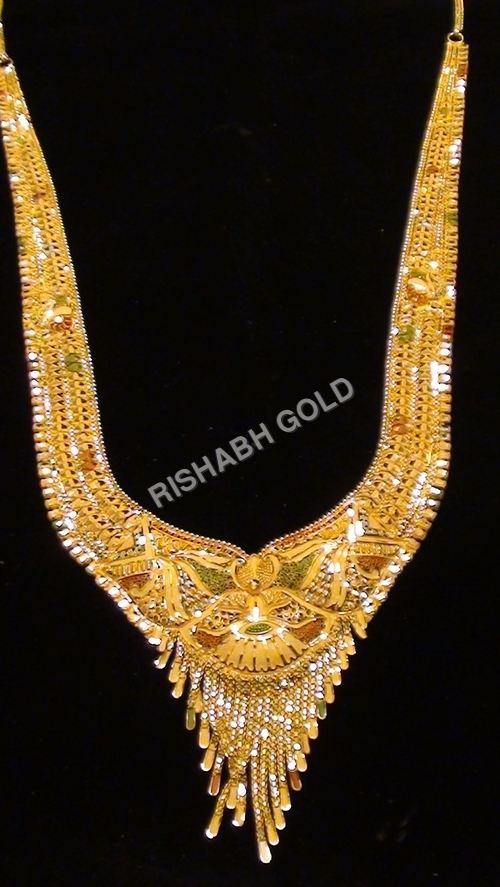 Fancy Long Gold Necklace