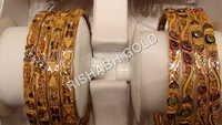 Gold Meenakari Bangles