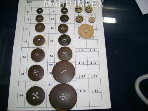 Coconut Button Different Sizes