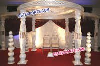 Crystal Bottle Fiber Mandap Set